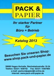 Katalog 2013 - Pack & Papier GmbH