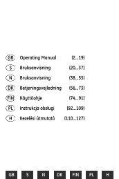 GB S N DK FIN PL H Operating Manual (2...19) Bruksanvisning (20 ...