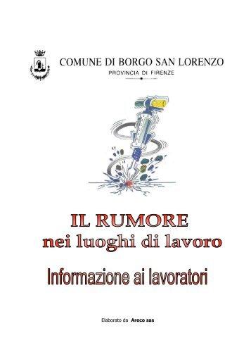 Elaborato da Areco sas - Comune di Borgo San Lorenzo