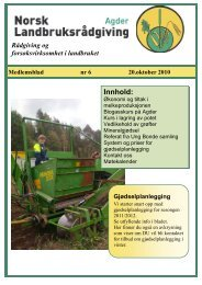 Medlemsblad oktober - Norsk Landbruksrådgiving Agder