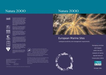 Natura 2OOO Natura 2OOO - UK Marine Special Areas of ...