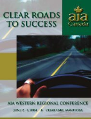 AIA Regional Conference - Automotive Industries Association of ...