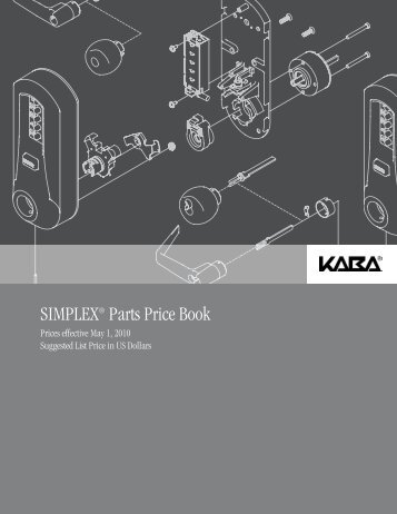 SIMPLEX® Parts Price Book - Access Hardware Supply
