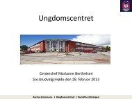 Ungdomscentret - Velkommen til Århus Kommune