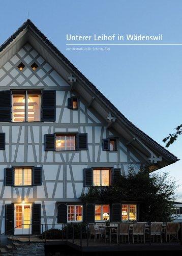 Unterer Leihof in Wädenswil - Architekturbüro Dr. Schmitz-Riol