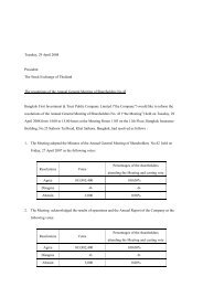 The Resolutions of the Annual General Meeting of Shareholders No ...