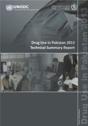 Drug Use in Pakistan 2013 - United Nations Office on Drugs and ...
