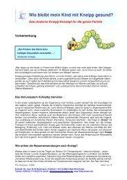 Das moderne Kneipp-Konzept für die ganze Familie - Drbachmann.de