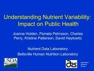 Understanding Nutrient Variability: Impact on Public Health