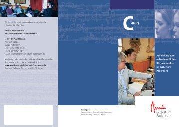 Download C-Kurs-Flyer - Kirchenmusik im Erzbistum Paderborn