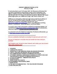 SISKIND'S IMMIGRATION BULLETIN February 8 ... - Siskind, Susser