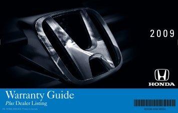 Warranty Guide - Honda Canada