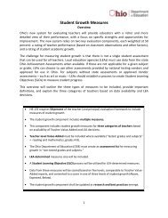 Student Growth Measures for Teacher Evaluation