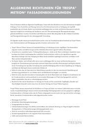 ALLGEMEINE RICHTLINIEN FÜR TRESPA® METEON ... - Trespa.info