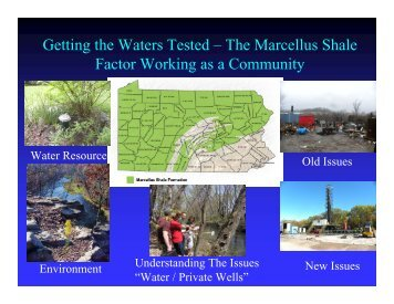 Marcellus Shale 201 - Center for Environmental Quality, Wilkes ...