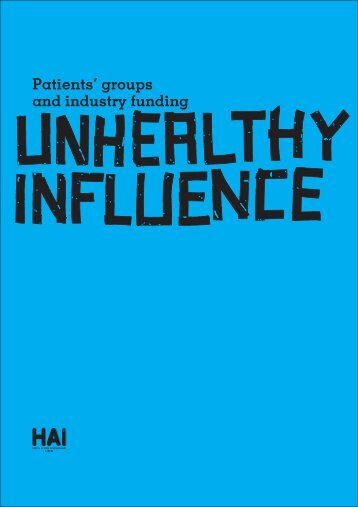 Patients' groups and industry funding