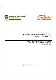 diagnóstico de gobierno en línea de la rama judicial - Corporación ...