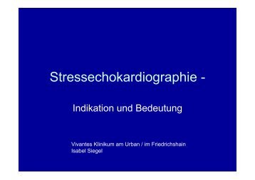 Stressechokardiographie - - Vivantes