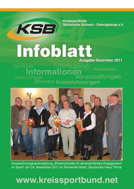 Ausgabe Dezember 2011 - Kreissportbund Sächsische Schweiz
