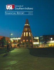 FINANCIAL REPORT - University of Southern Indiana