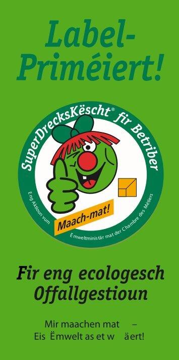 Label- Priméiert! - SuperDrecksKëscht