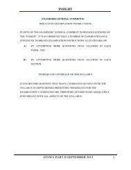INSIGHT ATSWA PART II SEPTEMBER 2012 - The Institute of ...