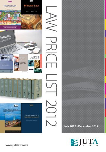 2205-07-12 Price List Cover 2012- July to December ... - Juta - Law