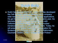 Dutch Boltz - Molecular Devices