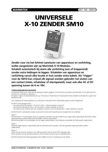 UNIVERSELE X-10 ZENDER SM10 - De Beveiligingswinkel