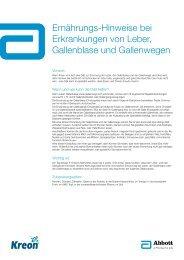 Ernährungs-Hinweise bei Erkrankungen von Leber ... - Kreon
