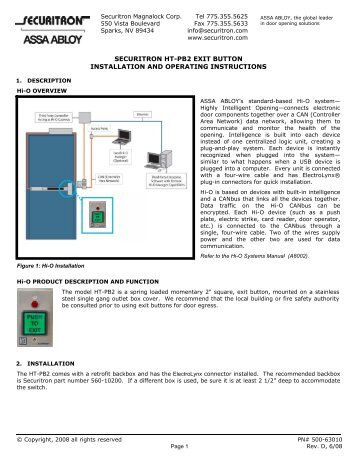 securitron ht pb2 push button instructions access control ?quality=85 securitron eeb2, eeb3n exit button with integrated timer access securitron eeb2 wiring diagram at gsmportal.co