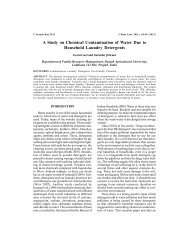 A Study on Chemical Contamination of Water Due to Household ...