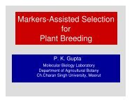 Markers-Assisted Selection for Plant Breeding - ILSI India