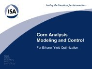Corn Analysis Modeling and Control - Control Global