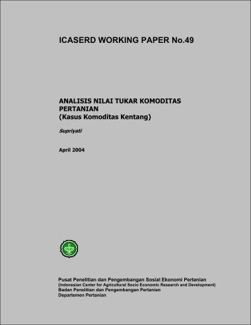 ICASERD WORKING PAPER No.49 - Pusat Sosial Ekonomi dan ...