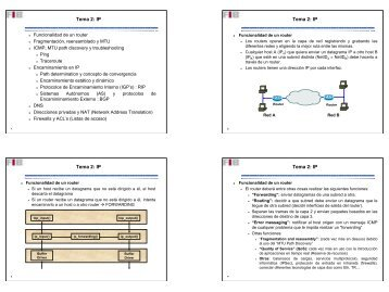 Tema 2: IP Tema 2: IP Tema 2: IP Tema 2: IP - UPC