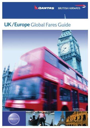 UK/Europe Global Fares Guide - British Airways