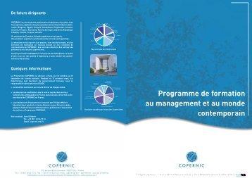 Programme de formation au management et au monde contemporain