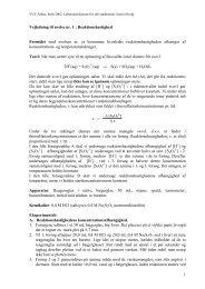 Vejledning til øvelse nr 1 : Reaktionshastighed - VUC Aarhus