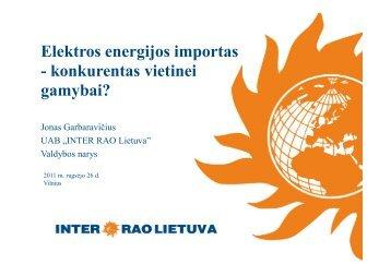 Elektros energijos importas