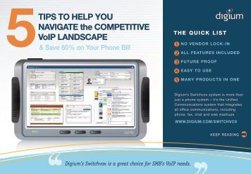14/07/2011 Top 5 tips when selecting a VoIP phone system - Wavelink