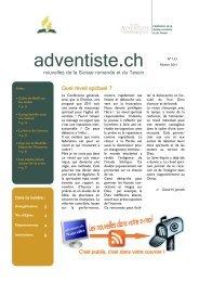 133-Février 2011 - Fédération des Eglises Adventistes du 7e jour de ...