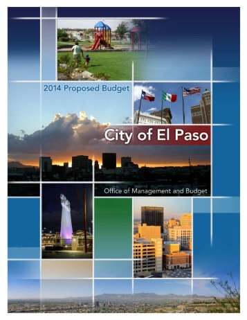 FY14 Proposed Budget Book - City of El Paso