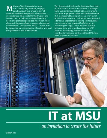 Information Technology at MSU (PDF) - IT Services - Michigan State ...