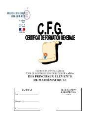page de couverture CFG mathematiques