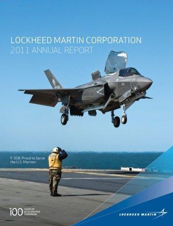 LOCKHEED MARTIN CORPORATION 2011 ANNUAL REPORT