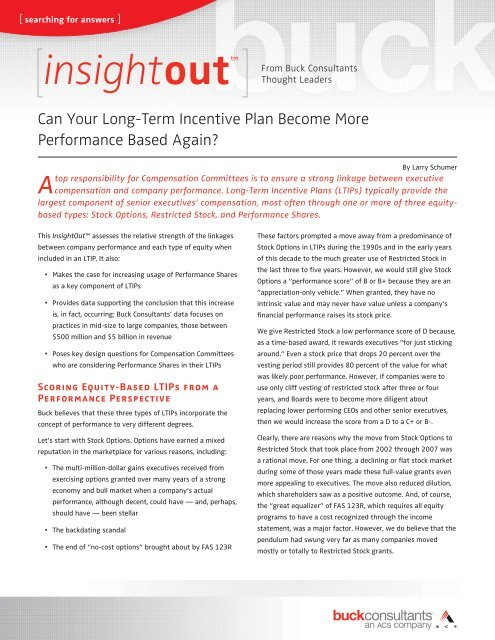 Can your long-term incentive plan become more performance based