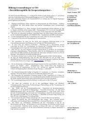 Bildungsveranstaltungen vor Ort - KEB Aschendorf-Hümmling
