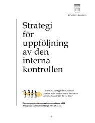 Läs strategi för uppföljning av den interna kontrollen - Kungälv