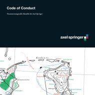 Code of Conduct (PDF) - Axel Springer AG